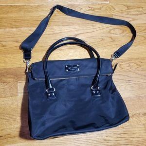Kate Spade large black Leslie fold over satchel